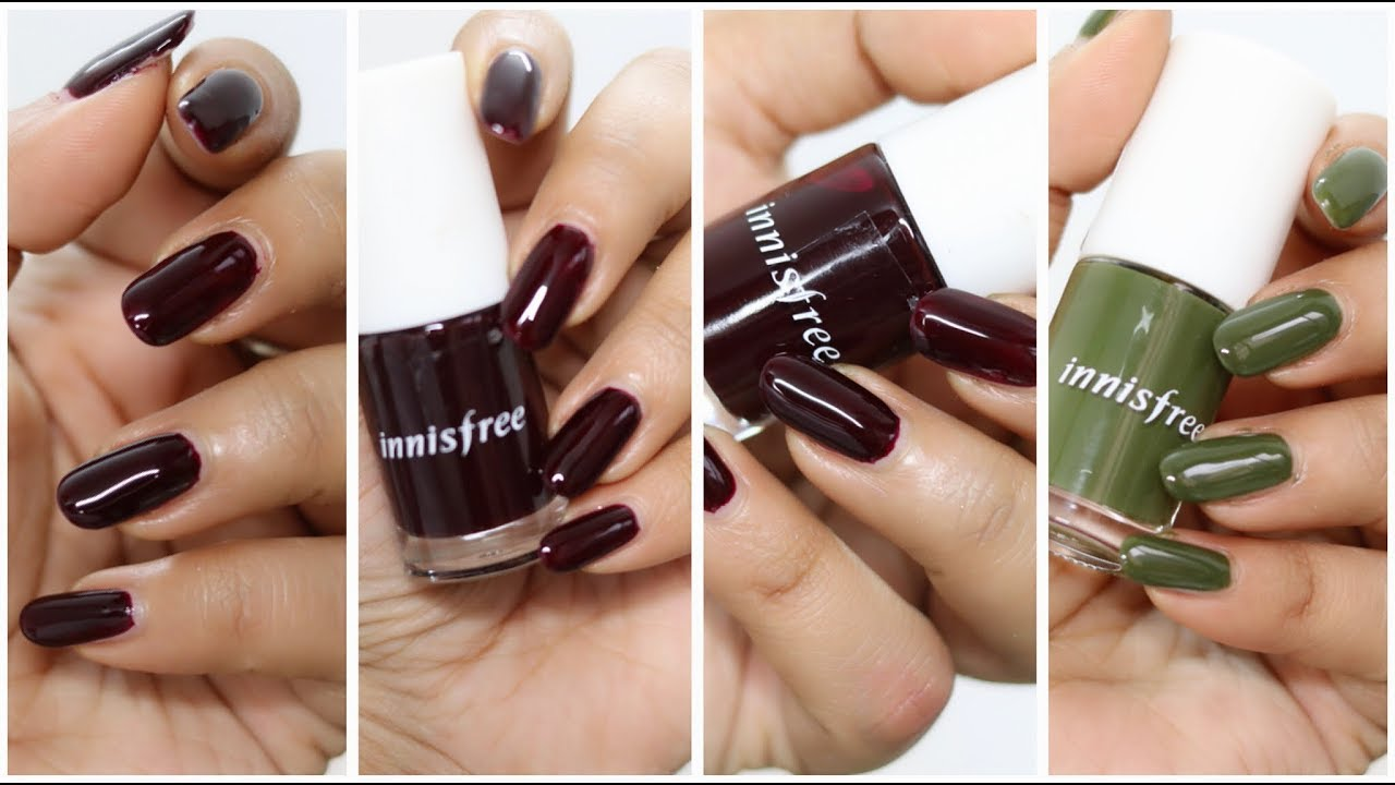 Innisfree Real Color Nail Swatches Corallista Youtube