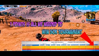 Pubg mobile | 50k INR tournament We come runner up because of 1 point