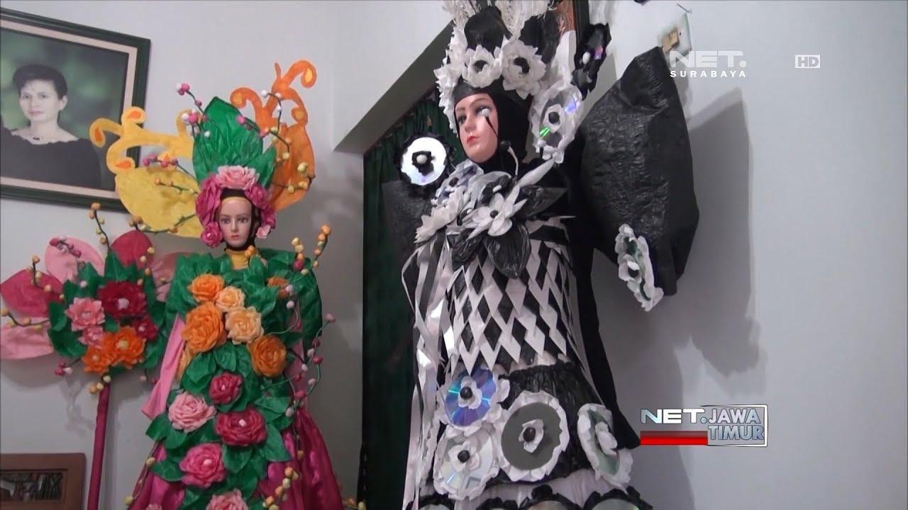 Plastik Bekas Disulap Menjadi Gaun Cantik Dan Berbagai Kerajinan Net Jatim
