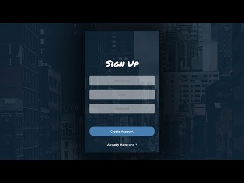 Awesome Sign Up Form Using Only HTML & CSS
