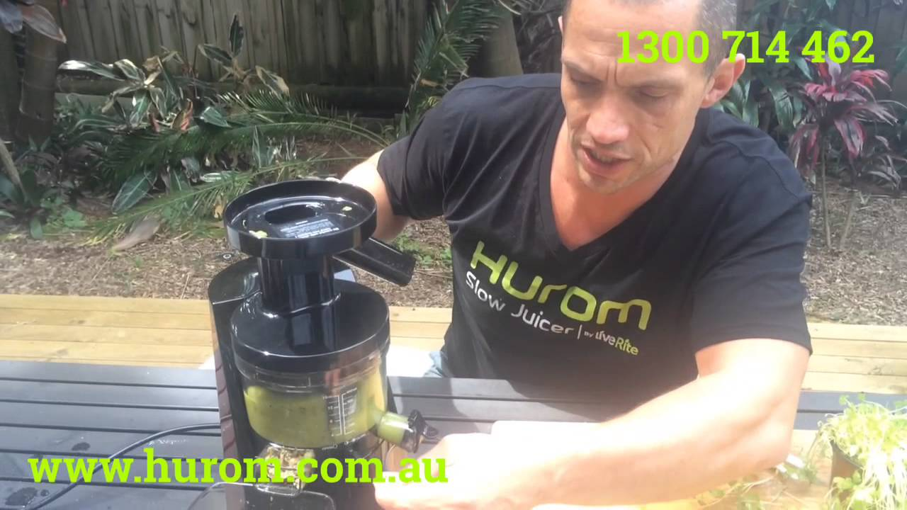 Slow Juicer Recipes Kiwi : Hurom Elite - Juicing Kiwi Fruit with Micro Herbs - YouTube