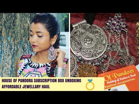 Affordable Jewellery Subscription box @ 299 in India | House of Pandora Box | Jewellery Try on Haul