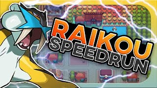 How Fast Can I Beat Pokemon Heartgold/Soulsilver With Only A Raikou?! (No items, Speedrun)