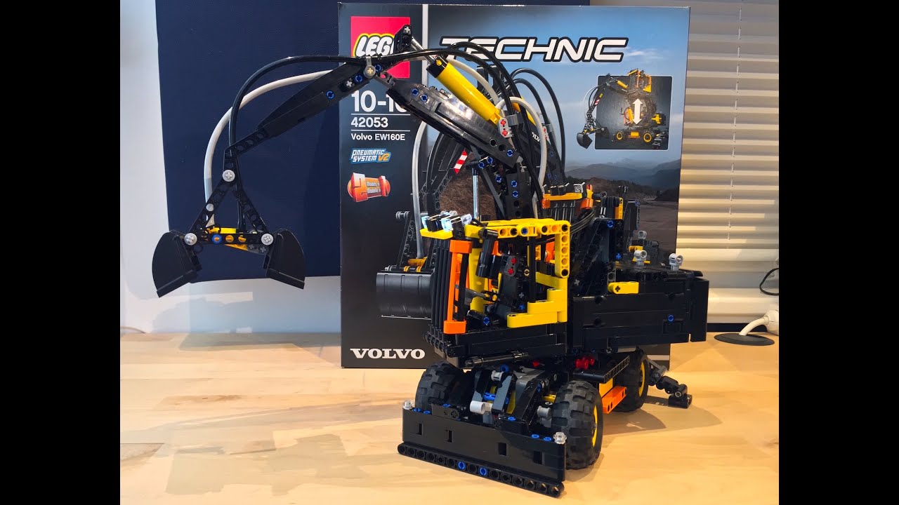 lego technic 42053 volvo ew160e review with unboxing. Black Bedroom Furniture Sets. Home Design Ideas