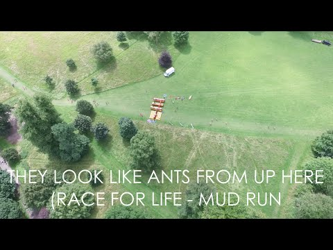 THEY LOOK LIKE ANTS FROM UP HERE! (RACE FOR LIFE - MUD RUN)