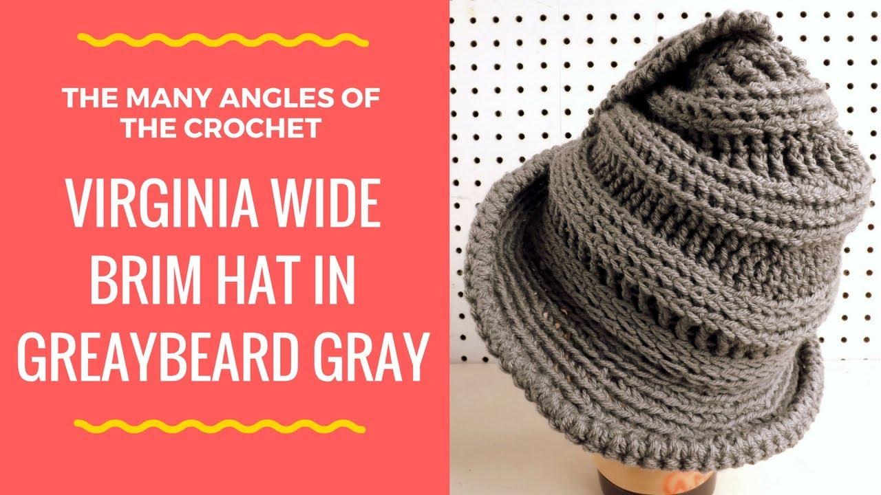 66108a8c62fa9b Crochet Hat for Women, VIRGINIA Unique Crochet Wide Brim Hat, Cloche Hat,  Steampunk Hat, Gray Hat