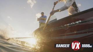 Ranger Aluminum Deep V VX1888DC On-Water Footage
