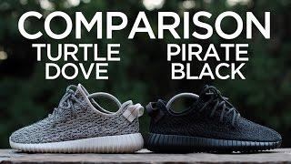 comparison adidas yeezy boost 350 turtle dove vs pirate black