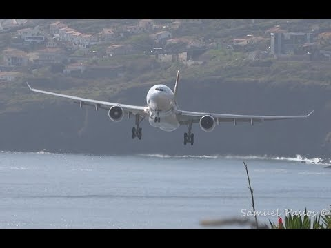 SKILL || A330 LANDING during WINDY weather || Madeira