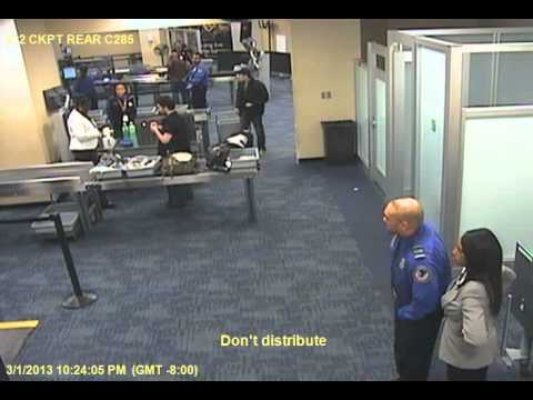 Sai's SFO TSA incident - airport camera footage 2