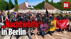 """Russische """"Nachtwölfe"""" feiern den Sieg vom 9. Mai 1945 in Berlin"""