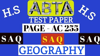 Download ABTA test paper | Geography SAQ | page AC 255 | HS 2020