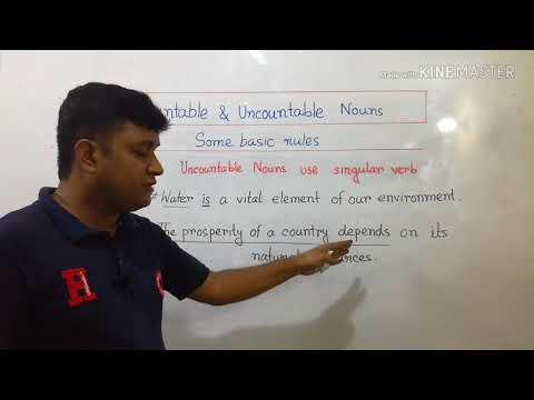 Countable & Uncountable Nouns (ভাষা: বাংলা)