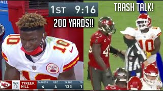 Tyreek Hill 'RECORD BREAKING' Highlights vs Bucs! (TRASH TALK!)