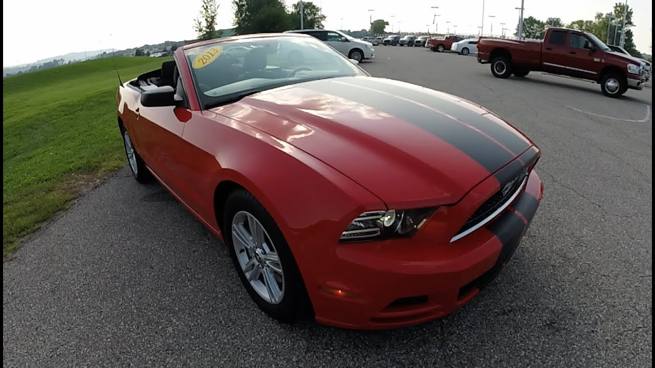 2013 ford mustang v6 convertible red used mustang indianapolis p9917