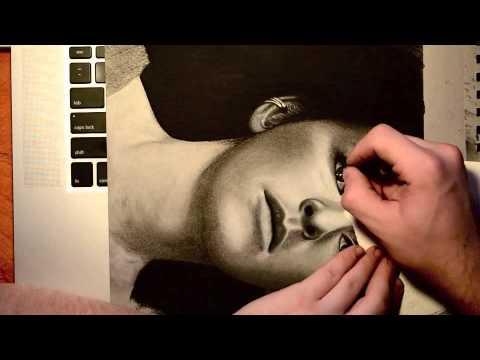 Ayelet ZurerMan of Steel  Time Lapse Speed Drawing