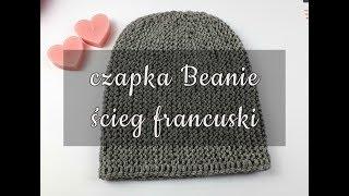 Jak zrobić czapkę Beanie na drutach ściegiem francuskim. Czapka w poprzek.