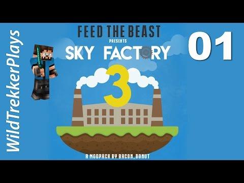 FTB Sky Factory 3 ep01 - Eat Sleep Twerk Repeat [Minecraft 1.10 Modded Skyblock]