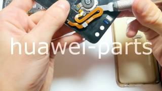 Как снять сканер отпечатка пальца с Huawei Honor 8