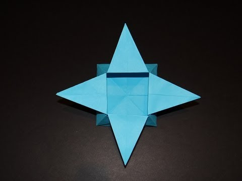 How to make a five-pointed cute origami star box: page 1 | 360x480