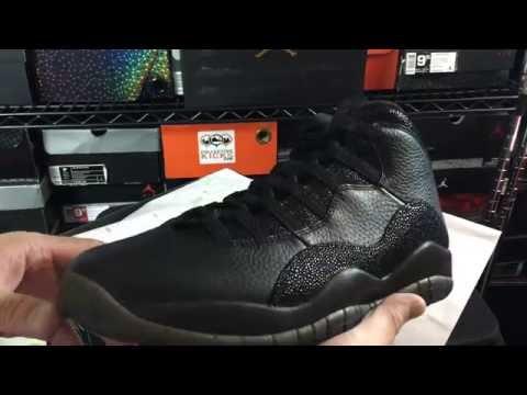 huge discount 1109d c77c3 Air Jordan 10 X Retro Drake OVO Black Unboxing Review - YouTube