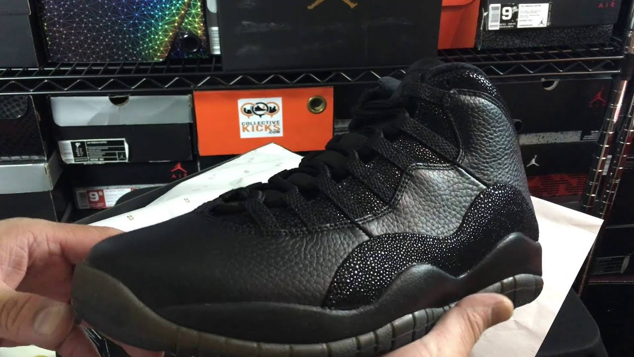 0b11c077c8db Air Jordan 10 X Retro Drake OVO Black Unboxing Review - YouTube