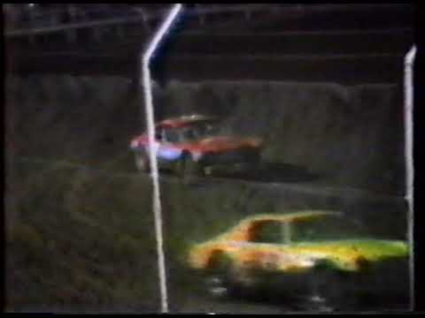 David Lewis - Racing at Superbowl Speedway, Greenville, TX - 1988