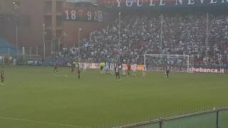 Genoa - Lecce gol di Veloso