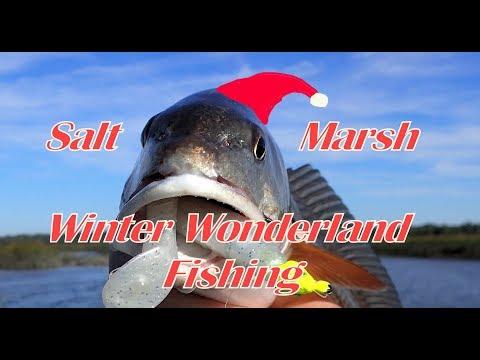 Salt Marsh Winter Wonderland Fishing