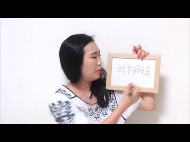 (Daily Korean)  I understand 이해해요 by seemile.com