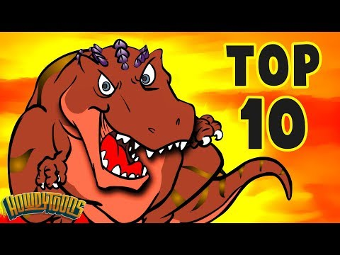 Top 10 Dino Songs - Dinosaur Songs for Kids from Dinostory by Howdytoons