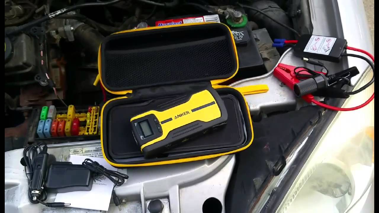 Anker multi functional car jump starter and portable external battery charger product review youtube