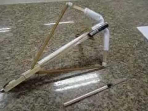 COMO FAZER UM CROSSBOW DE PAPEL(HOW TO MAKE A PAPER CROSBOW).