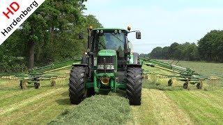 Raking the grass | John Deere 6530 + Krone Swadro 1400 | Gras harken | Schimmel Overberg | 2017.