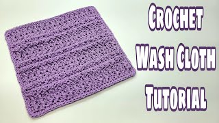 Crochet Wash Cloth Tutorial/Cr…