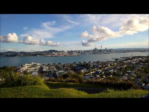 Sunset at Mount Victoria lookout - Auckland, New Zealand