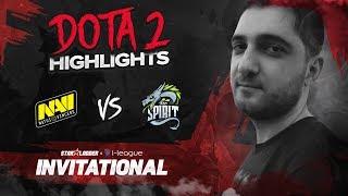 NAVI Dota2 Highlights vs Team Spirit @ SL i-League Invitational S3