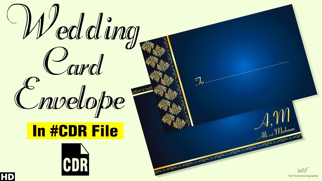 Coreldraw Tutorial Wedding Card Envelope Design 2018 Youtube