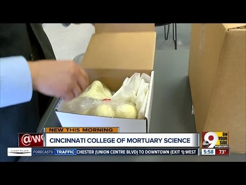 Cincinnati College of Mortuary Science students are used to explaining their