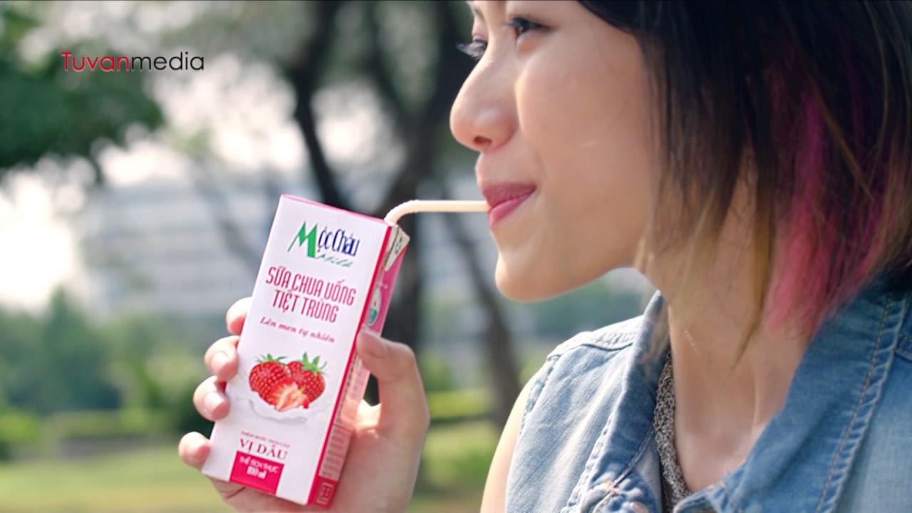 Công ty sản xuất phim quảng cáo – TVC Mộc Châu Sữa chua uống – Tứ Vân Media làm TVC quảng cáo