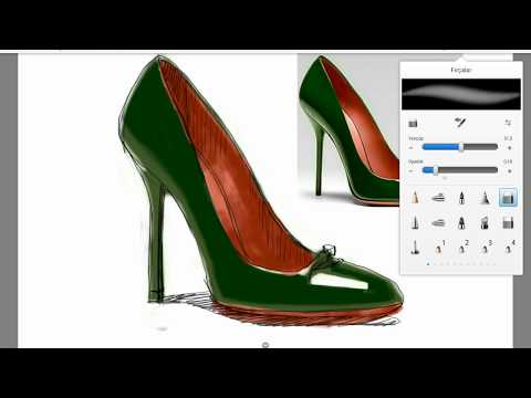 Shoe drawing and painting by reproduction in shoe design 2