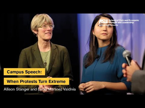 """""""Campus Speech: When Protests Turn Extreme"""" with Allison Stanger and Lucía Martinez Valdívia"""