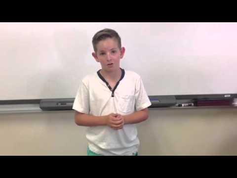 Best 5th Grade Student Council Presidential Speech Ever!!!!