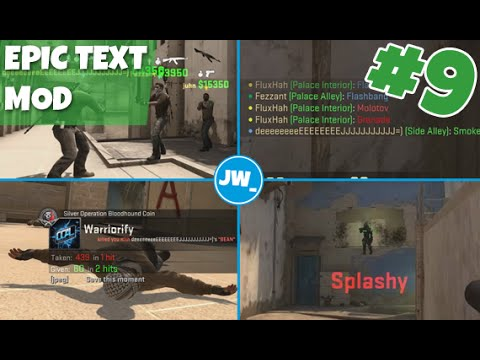 EPIC TEXT MOD - Changing text, colours and size | CS:GO Tutorials Ep #9 -  Jamiew_