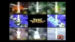 Digimon 1,2,3,4 y 5 Todas Las Digievoluciones