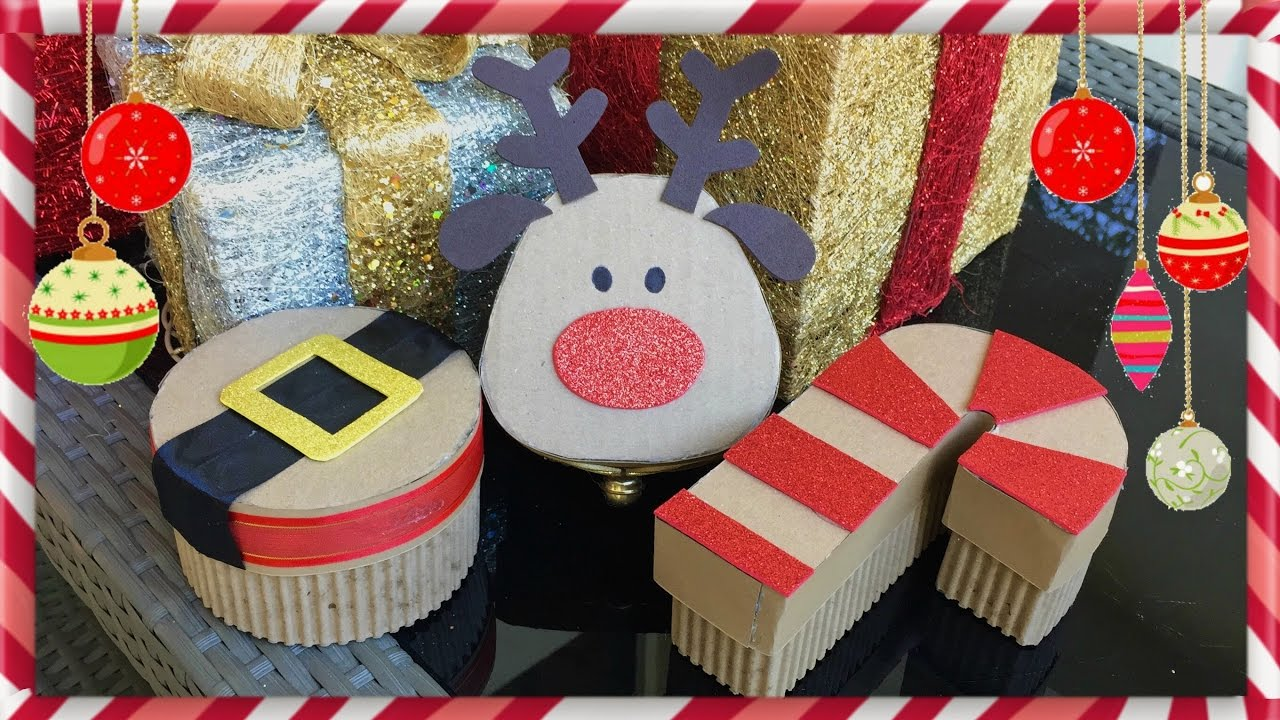 Diy cajas navide as para regalar youtube - Ideas originales navidad ...
