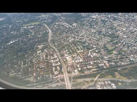 Landing at LaGuardia Airport. Great view of New York City