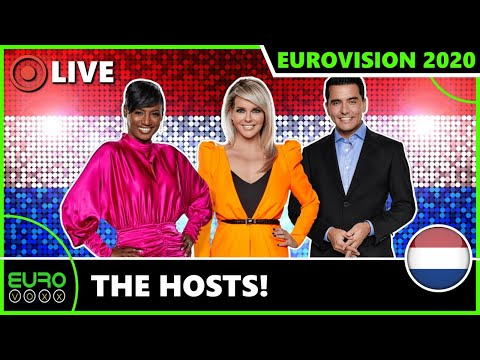 EDSILIA ROMBLEY, CHANTAL JANZEN, JAN SMIT TO HOST EUROVISION 2020! (REACTION) | EUROVOXX LIVE