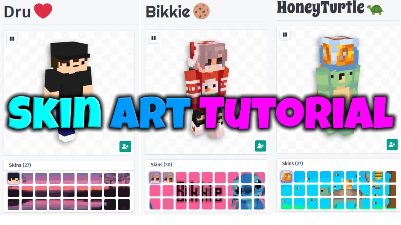 Updated Namemc Skin Art Tutorial 2020 Youtube