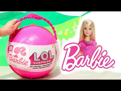 L.O.L Big Surprise Customized With Barbie Surprise Toys and LOL Dolls Accessories